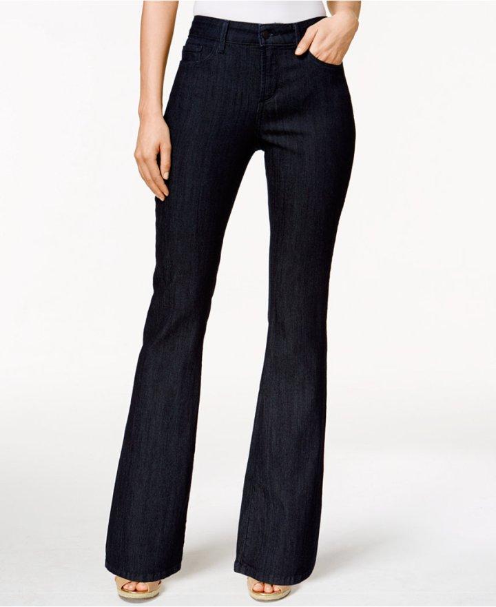 Farrah Dark Enzyme Wash Flare-Leg Jeans