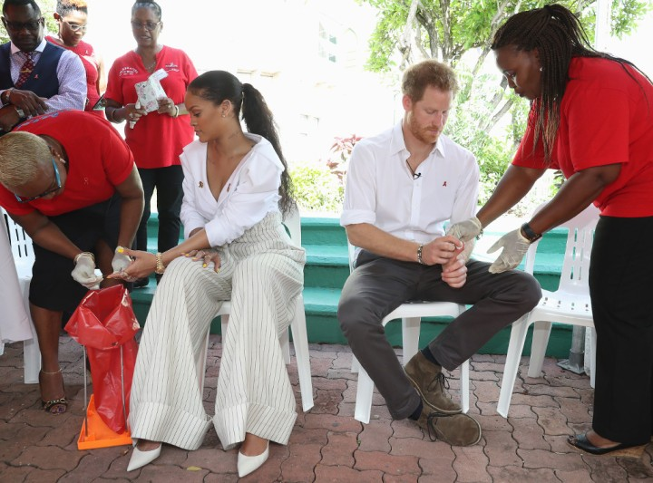 Rihanna and Prince Harry. Photo - Eonline