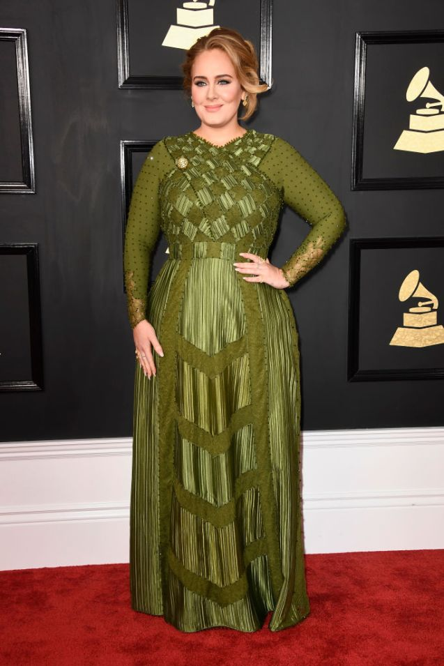 LOS ANGELES, CA - FEBRUARY 12: Singer Adele attends The 59th GRAMMY Awards at STAPLES Center on February 12, 2017 in Los Angeles, California. (Photo by Frazer Harrison/Getty Images)