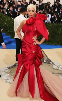 Rita Ora in custom Marchesa